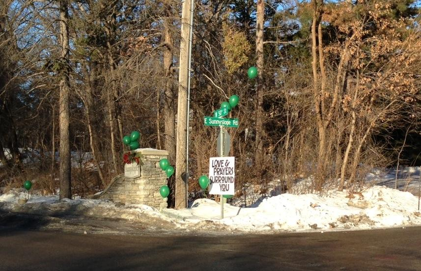 Members of Blake community rally in memory of Edina boy
