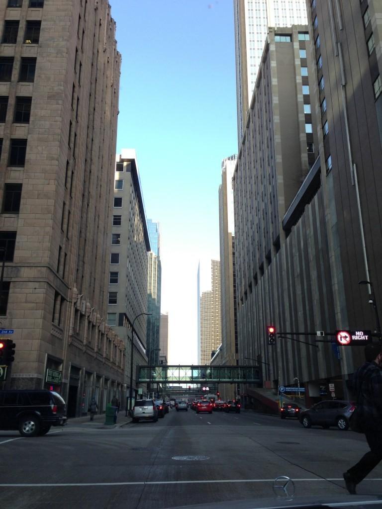 The never ending road: Minneapolis sky