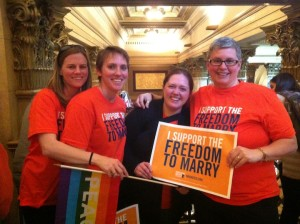 Reporting from the capitol: Same-sex marriage bill passes
