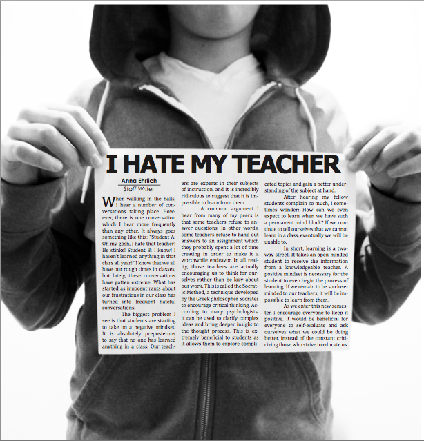 This layout by Karl Lovaas 14 was named a Best of Editorials 2012 by the National Scholastic Press.
