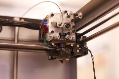 A close-up of the printer.