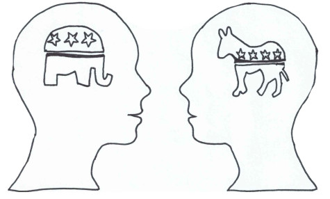 Conversations about politics often are separated by predetermined ideologies  surrounding political parties.