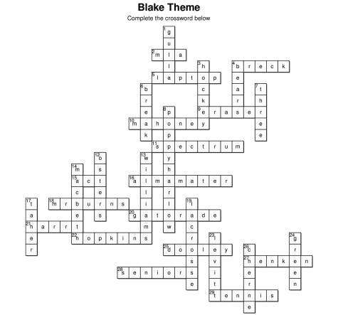 Blake-Crossword-Answers
