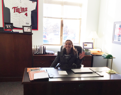 Maddie McConkey '16 in Representative Applebaum's office