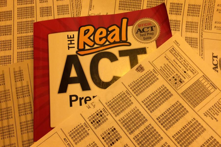 ACT practice test book