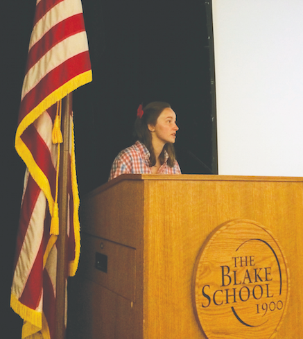Maddie McConkey '16 explains Forum's goals for the coming year