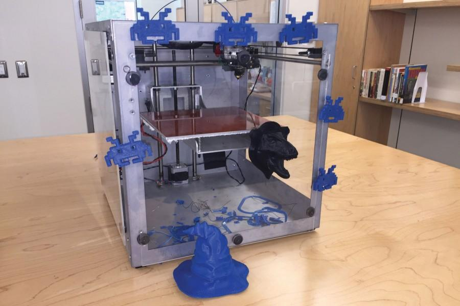 The 3D printer uses plastic to print an array of different objects