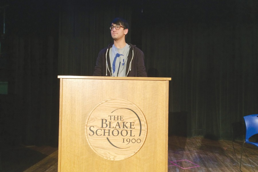 Zahir Shaikh '16 ends silence with speech