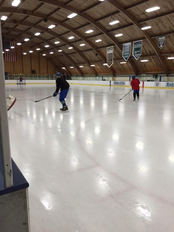 J.V. Boys Hockey starts a late night practice
