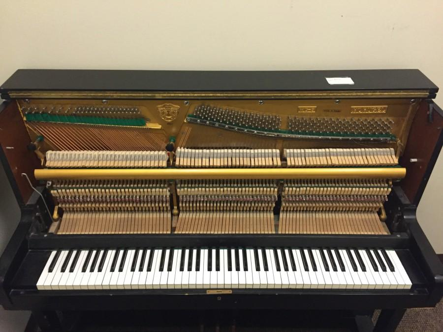The piano contains up to 236 strings, corresponding to 88 separate notes.