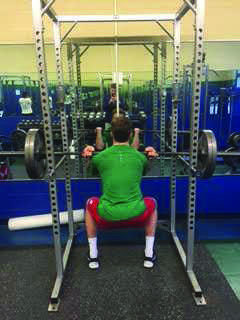 Conor McDonough '16 regains his strength over the winter.