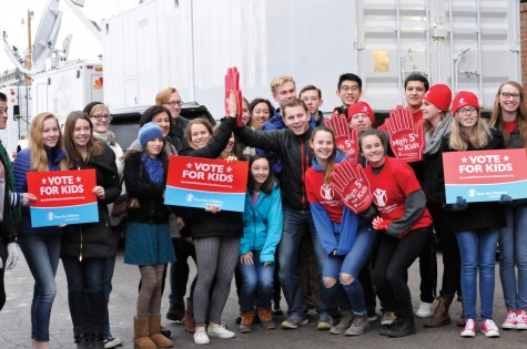 53 students and 8 teachers traveled to Iowa. On Saturday, they waited to see Rand Paul after his appearance on Meet the Press.