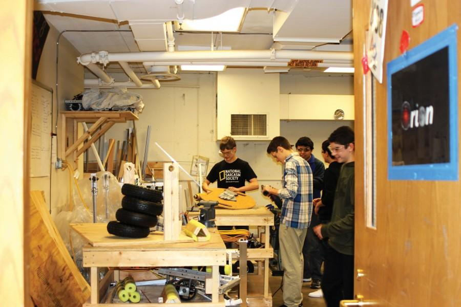 Bearbotics first builds the robot in their shop, which is then tested at competitions