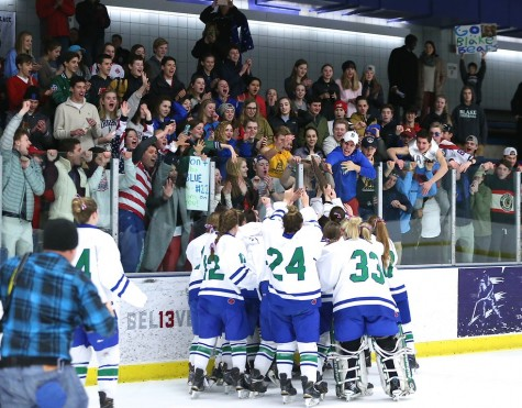 BGH sharing the glory with the loyal student section at Parade. On to the X!