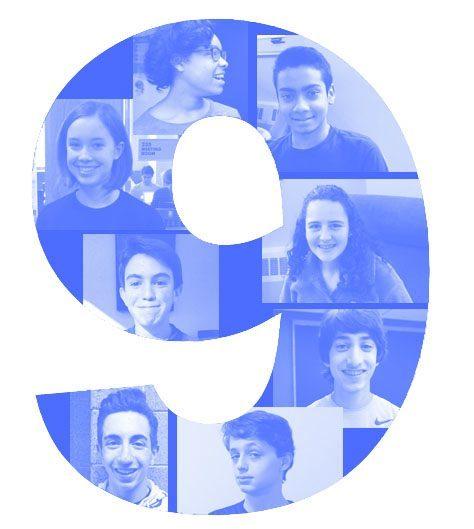 (clockwise from center) Brian Brener '20, Julia Roedel '20, Kennedy Rupert '20, Rishab Haldar '20, Ruth Goldenberg '20, Rohan Ajmani '20, Mathew Krelitz '20, and David Bix '20.
