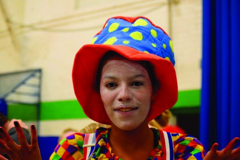 """Addison Anderson '19: """"I like being in the haunted house because I enjoy acting. Doing the scaring and stuff is really fun. And it's also a good time to hang out with and people and be involved with the middle schoolers who we don't get to do a lot of activities with."""""""