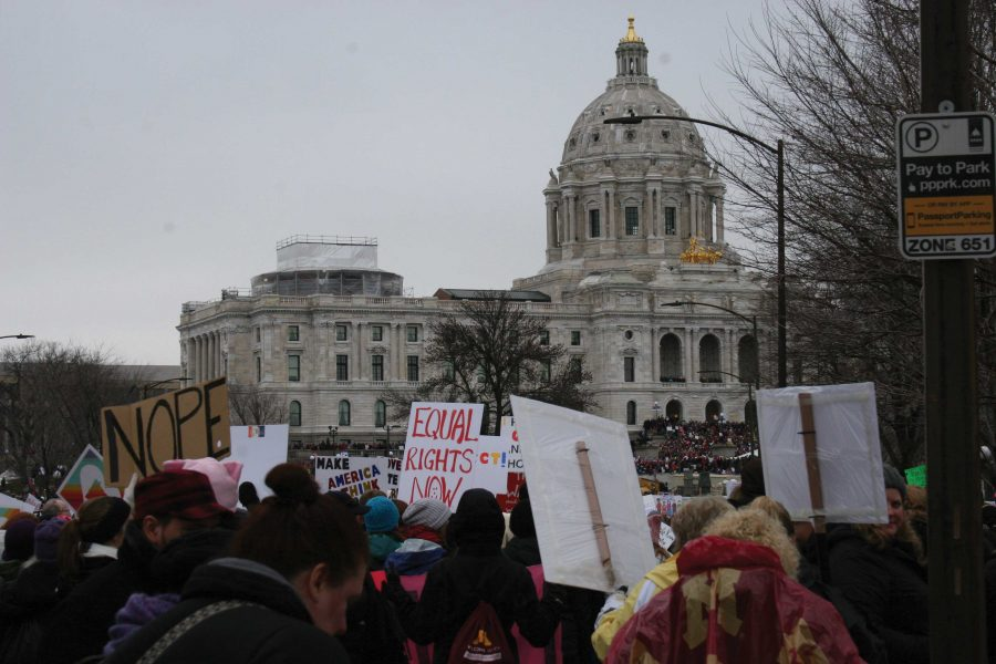 A sister march to the Women's March on Washington, the Women's March in Minnesota contributed to an estimated 3.3 million protesters globally on January 21.
