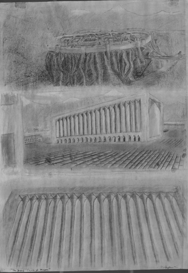 Silver Key winning drawing by Chris Gill,