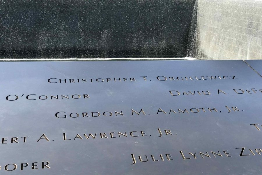 Aamoth's name on the 9/11 memorial