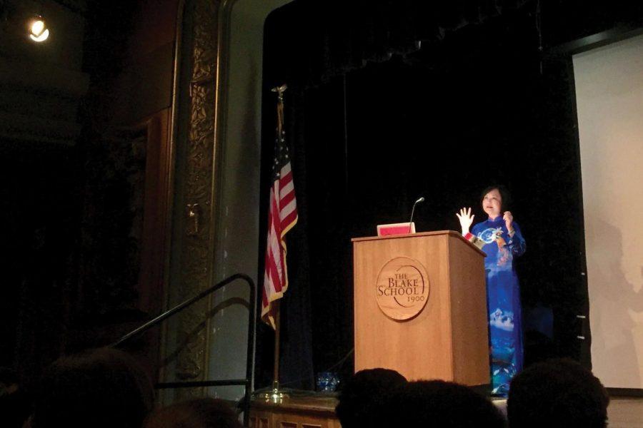 Kim Phúc delivers inspiring symposium