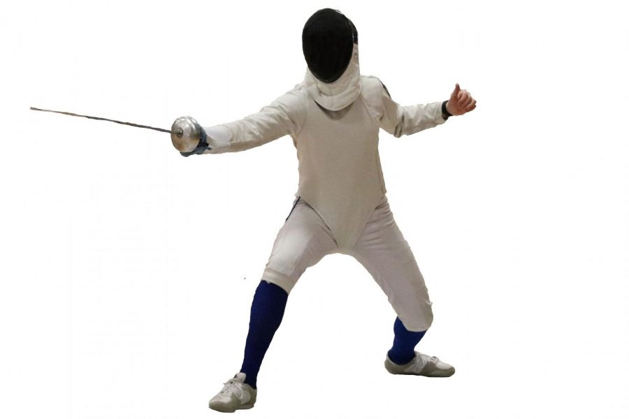 Mystery athlete competing in Men's Epee at state tournament.