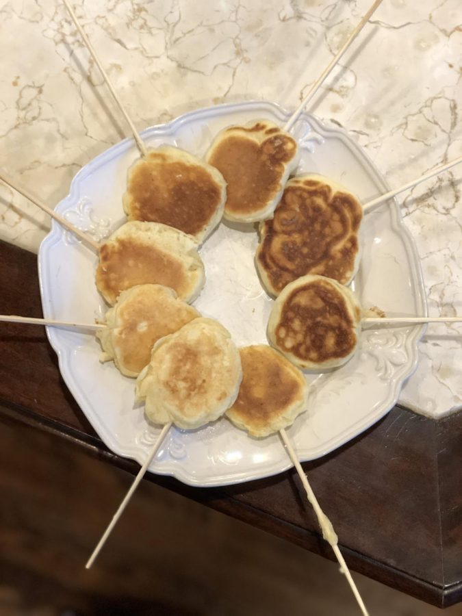 The tested pancake pops!