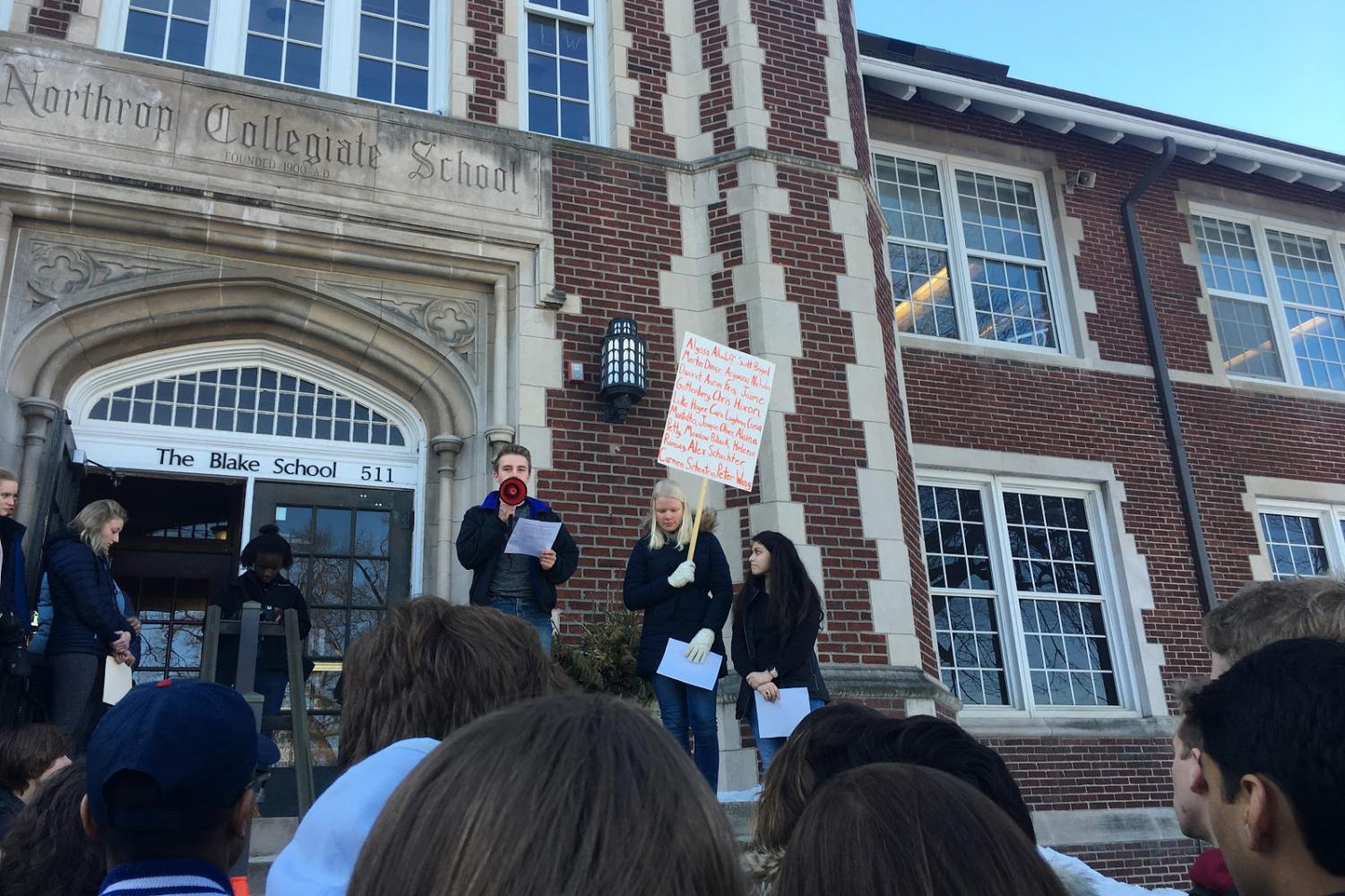 More than 70 students signed up to participate in the walkout, and even more actually came.