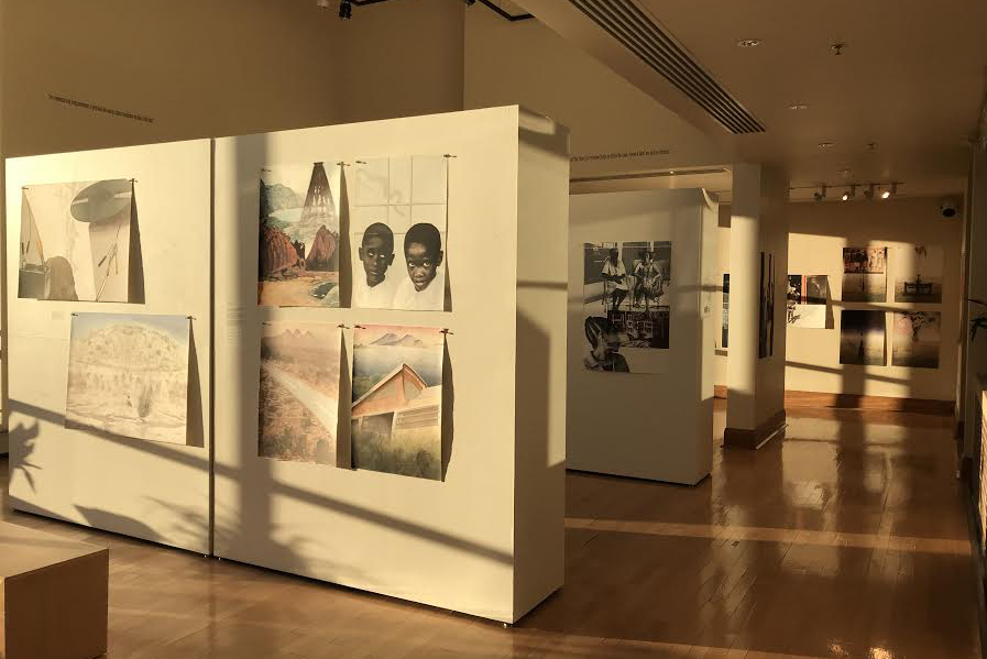 Bethke's art portraying South African culture hung in the Martha Bennett Gallery spanning from February 21 to March 14.