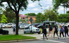 Students navigate the road, DMV