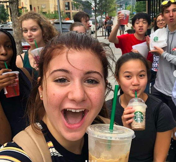 The Kriesle advisory (pictured above) enjoyed many various treats throughout the day such as Starbucks. The advisories were able to spend the entire day alone in Minneapolis. During this time, each advisory had to find anything they wanted such as lunch or a snack.
