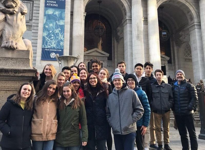 As well as debating, Model UN had the chance to tour New York City such as the New York Library.
