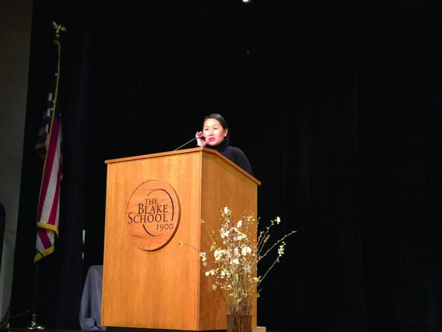 Kao Kalia Yang also spoke to the lower school classes and did a press conference with editors of The Spectrum. Due to the snow day on April 11, Yang will talk with the middle school and the larger community event on April 30.
