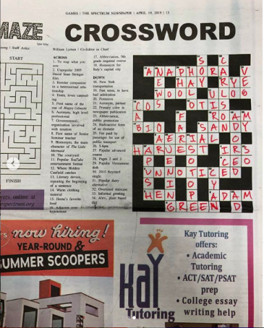 Answers to February's Crossword and Maze