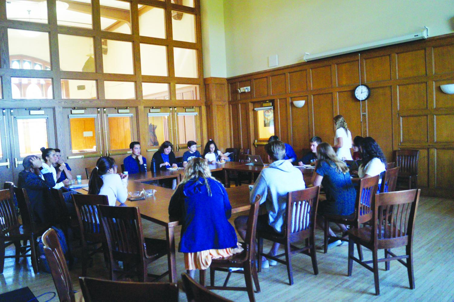 During Friday lunch meetings, any student is welcome to come and spectate in the Cherne.