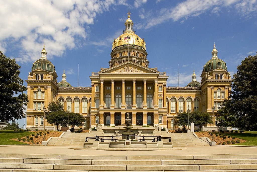 The 2019 caucus that Blake student will attend is in Iowa. Pictured above is the Capital building in Iowa.