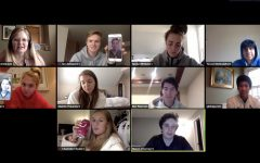 Ian Acheson takes a picture of Walt advisory on their inaugural Zoom meeting.