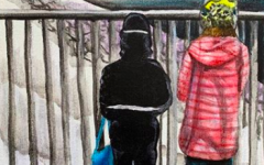 """A Melting Future"" by Alexa Hatcher '23. Acrylic on canvas."