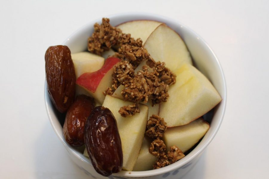 Apples and Granola Fall Breakfast.