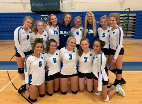 Pictured above is the 2019-2020 Blake Volleyball team. They entered the fall expecting not to be able to play until the spring, but due to the new MSHSL guidelines, delivered September 21, they are now able to begin their fall 2020 season rather than waiting until spring.