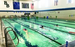 Girls' Swim & Dive Team Swims on Despite New Restrictions
