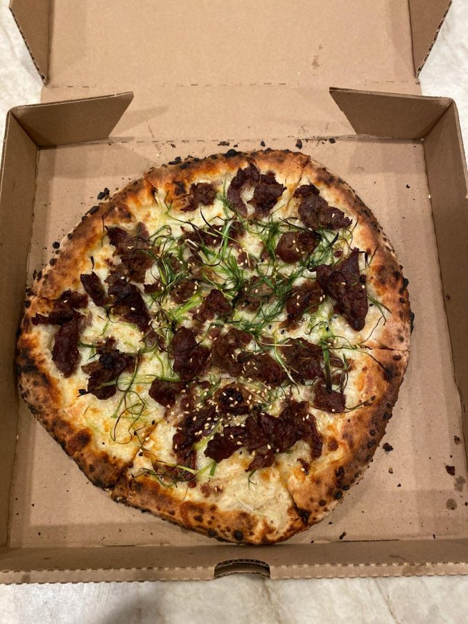 Young Joni's Korean BBQ pizza.