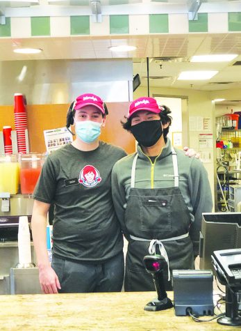 Zach Brener '22 and Kunga Shidhe-Chokra '22 both work at the Wendy's near Southdale Mall on Hazelton Road.