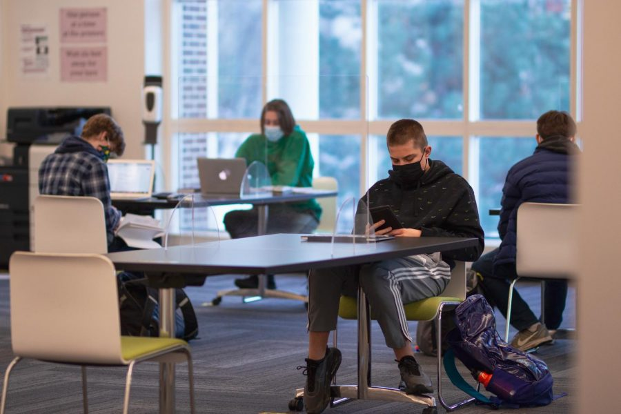 """Peter Johnson '22 expresses his thoughts saying, """"I think I will [like the new schedule more] because ... sometimes we had one class a week ... but I think with this schedule classes will be a little bit closer together."""""""