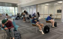 Leading up to the end of the school year, students study for AP exams and finals as well as work on projects and homework in the library.