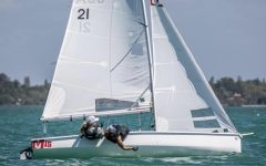 Martha Hughes '24 enjoys sailing as it is a great way to be active and spend time outside during the summer.
