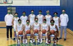 Blake Boys' Basketball 2020-2021 pictured above: [left to right top row] Tyler Middlestadt, Joshua Park '22, Grayson Okoronkwo '24, Theo Liu '22, Max Hubler '22, Dane Borene '24, Kunga Shidhe-Chokra '22, Tyler Biwan [left to right bottom row] Jasper Liu '21, Robert Grace IV '21, Gabe Ganz '21, Will Fazio '21, Elijah Short '21