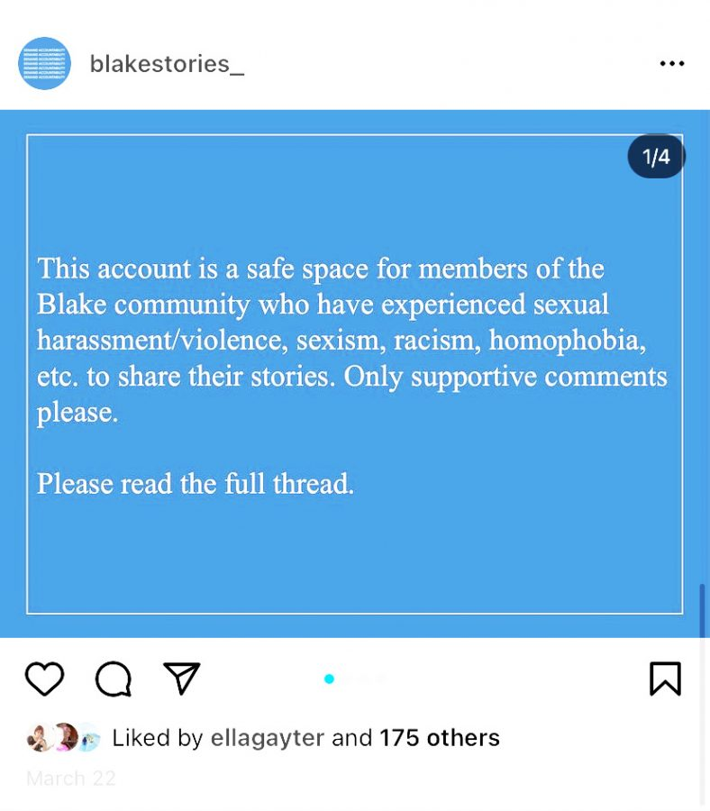The @blakestories_ Instagram posts feature a