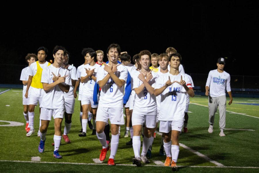 Blake Boys Soccer beat longtime rival Breck 1-0 on September 14.