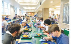 Juniors dine maskless in The Crosby Dining Room