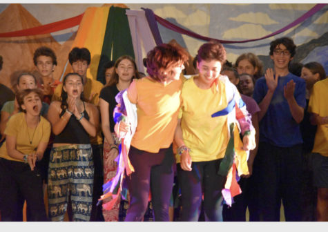 Ella Chester also attended Camp Ramah this summer. She's pictured here at curtain call participating in her age group's play.